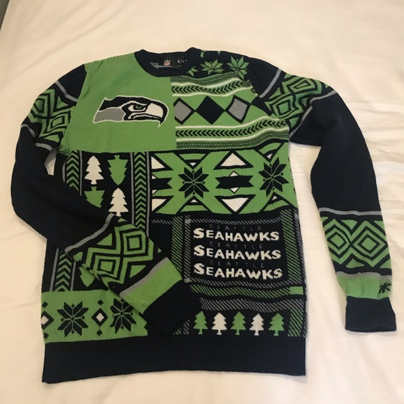reputable site 3f899 5b3c3 NFL Seattle Seahawks ugly Christmas sweater